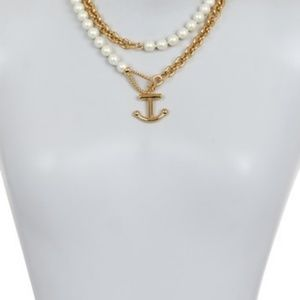 Kate Spade Anchors Away faux pearl chain necklace